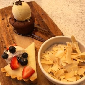 Gluten-free dessert platter from True Food Kitchen