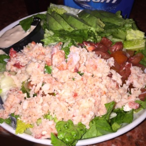 Gluten-free lobster salad from Two Drunken Goats