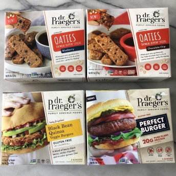 Gluten-free burgers and oaties by Dr. Praeger's