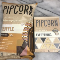 Gluten-free truffle popcorn and everything crackers by Pipsnacks