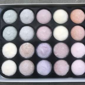 Case of gluten-free mochi ice cream by Mochidoki