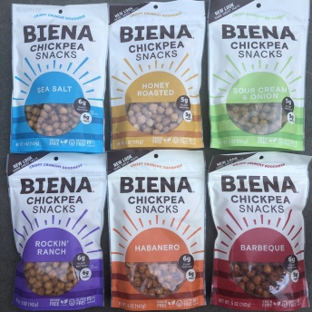 Gluten-free chickpea snacks from Biena Snacks