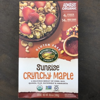 Gluten-free crunchy maple cereal by Nature's Path