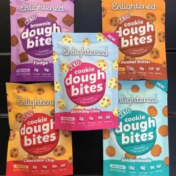 Gluten-free keto cookie dough bites by Enlightened