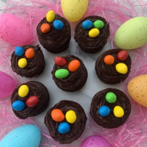 Delicious Easter Egg Nest Cupcakes