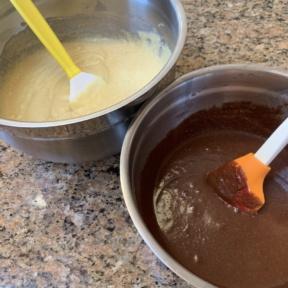 Making gluten-free Marble Cake