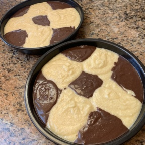 Making a two layer Marble Cake