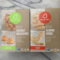 GLuten-free macaroons and almond horns by Aleia's