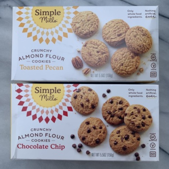 Gluten-free crunchy cookies by Simple Mills