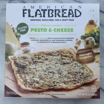 Gluten-free pesto & cheese pizza by American Flatbread