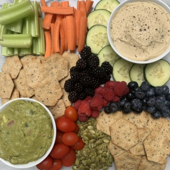 Gluten-free spread with Simple Mills seed flour crackers