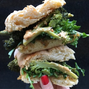 Gluten-free broccoli sandwich from Untamed Sandwiches