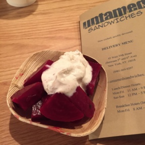 Gluten-free beets from Untamed Sandwiches