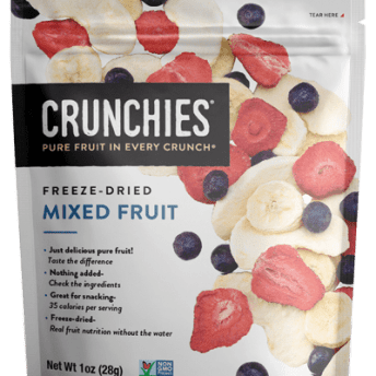 Gluten-free freeze-dried mixed fruit by Crunchies Food
