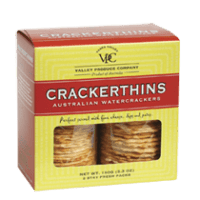 Gluten-free crackers by Valley Produce Crackerthins