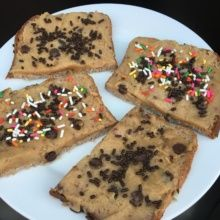 Vegan Cookie Dough Toast with Sprinkles