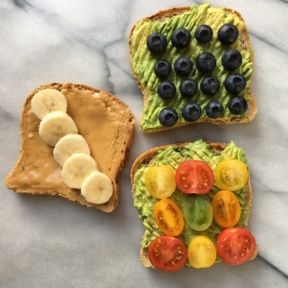 Gluten-free Vegan Avocado and Peanut Butter Toasts