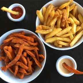 2 types of Gluten-free fries from Veggie Grill