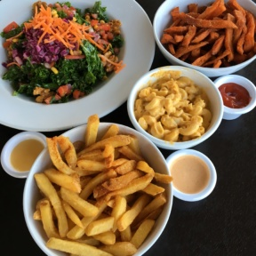 Gluten-free lunch spread from Veggie Grill