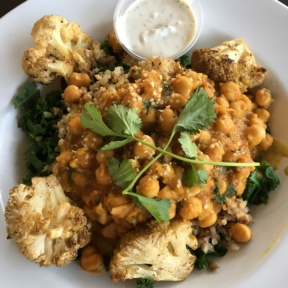 Gluten-free cauliflower bowl from Veggie Grill