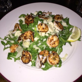 Gluten-free shrimp salad from Via Emilia