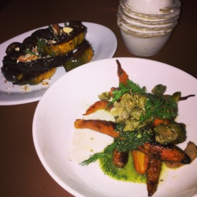 Gluten-free carrots and squash from Vic's