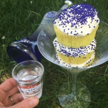 Gluten-free vodka cupcakes with a shot