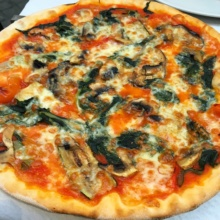 Gluten-free cheese pizza from Voglia di Pizza
