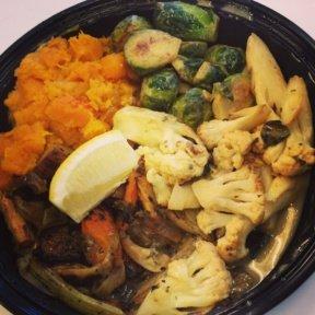 Gluten-free veggie platter from Westville