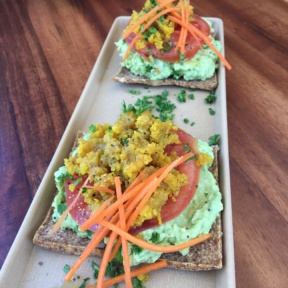 Gluten-free avocado toast from Wild Living Foods