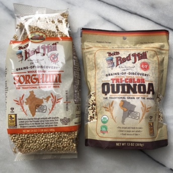 Quinoa and sorghum by Bob's Red Mill