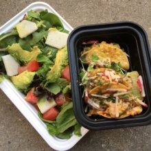 Gluten-free tacos and salads from Yerba Buena
