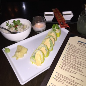 Gluten-free sushi roll from Zengo