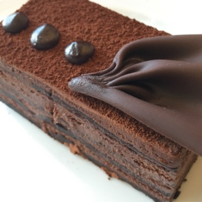 Gluten-free chocolate cake from Zing at Centara Grand