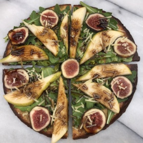 Zucchini Pizza with Pears, Figs, and Balsamic Drizzle