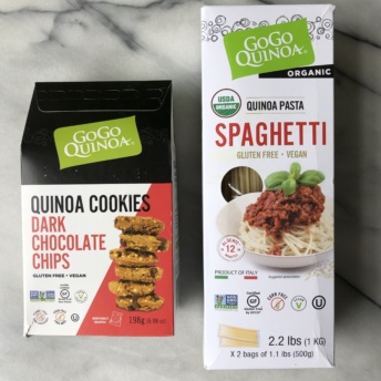 Gluten-free cookies and spaghetti by GoGo Quinoa
