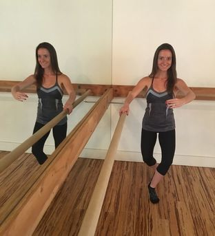 Jackie posing at the barre