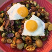 Brussels sprouts hash from Hello Fresh