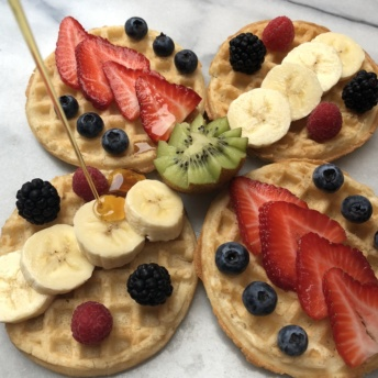 Waffles with berries from Van's Foods