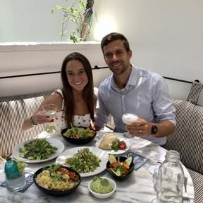 Jackie and Brendan eating at Gracias Madre