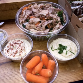 Gluten-free dips and salad from ilili Box