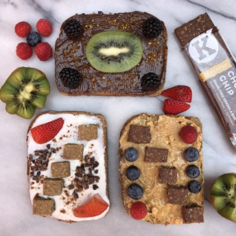 Gluten-free grain-free granola bars by KitchFix on toast