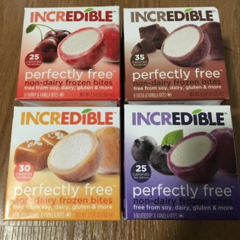 Gluten-free and non-dairy frozen bites by perfectlyfree / Incredible Foods