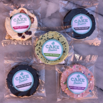 Gluten-free frosted rice cakes from Cake Bams