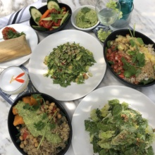 Gluten-free lunch spread from Gracias Madre