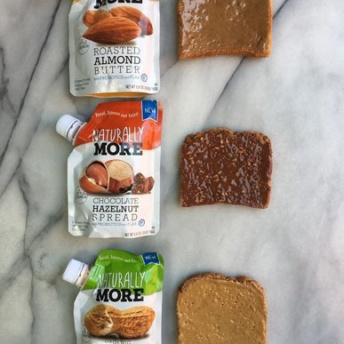 3 gluten-free toasts with nut butter