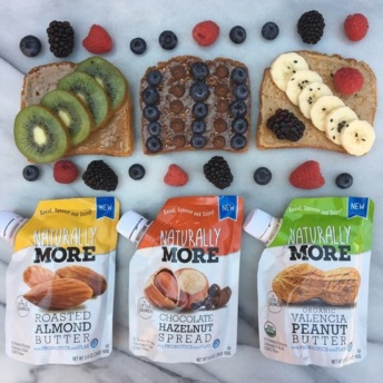Gluten-free toasts with nut butter and fruit