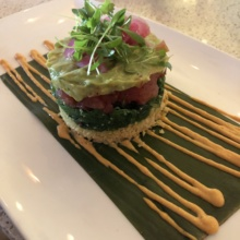 Gluten-free tuna tartare from Red O