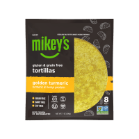 Gluten-free golden turmeric tortillas by Mikey's