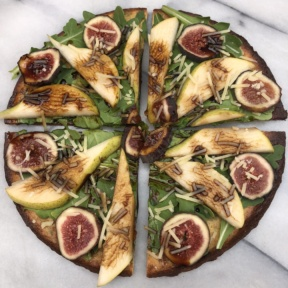 KBosh Food zucchini pizza crust with pears and figs